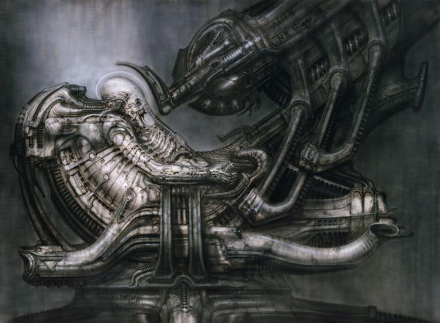 how h r giger s brilliant madness helped make alien erotic