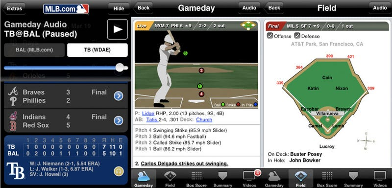 Baseball Season Officially Starts With MLB At Bat 2009 iPhone Apps