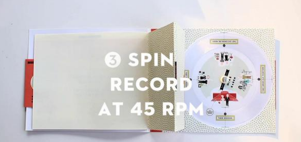 A Paper Record Player Hidden in a Wedding Invitation