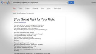Google Search Now Displays Lyrics Right In Search Results