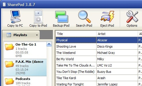 Sharepod Frees Your iPod From iTunes