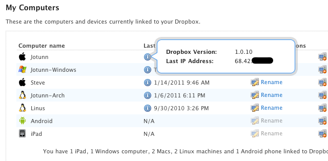 Use Dropbox to Find the IP Address of Your Remote Computers