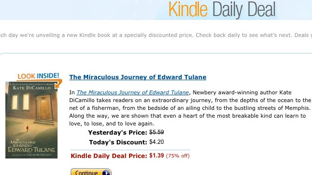 Amazon Offers Daily App Deals for Kindle Books