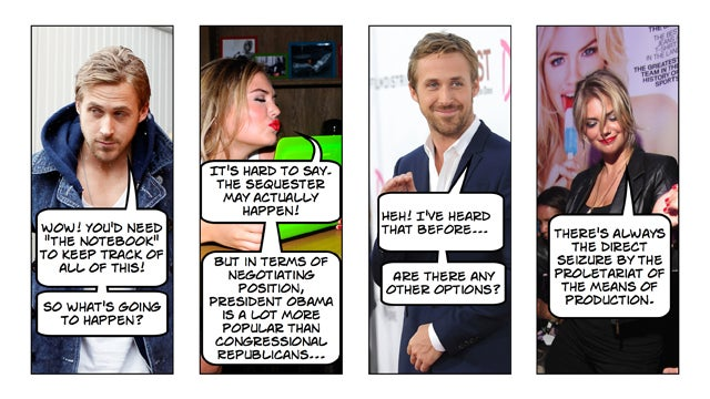 Kate Upton and Ryan Gosling Explain the Sequester