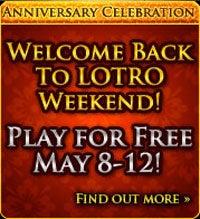 Return To LotRO Free This Weekend