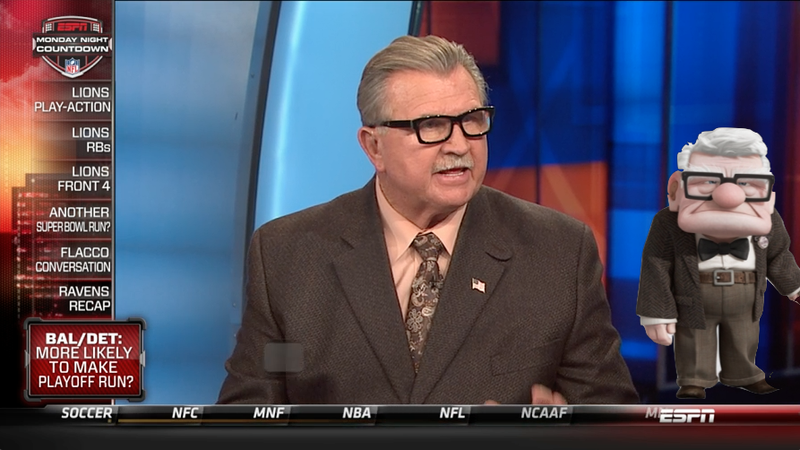 Mike Ditka Looks Like The Old Guy From Up