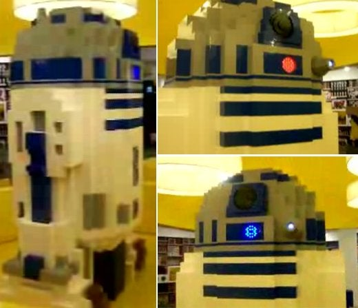 Giant LEGO R2-D2 is 8 Feet Tall, Squeaks and Lights Up