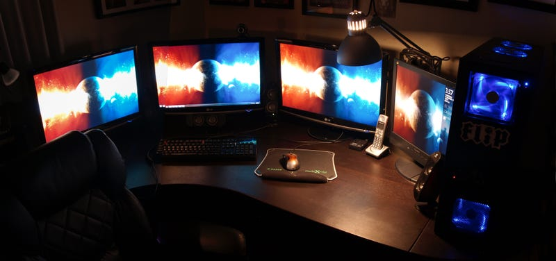 Living the High School High Life: Quad Monitors and Computing in Style