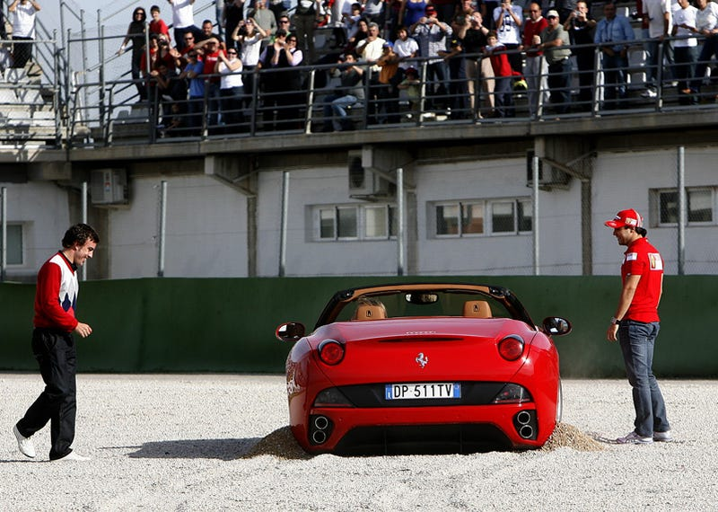 Ferrari Chairman Crashes Ferrari California!