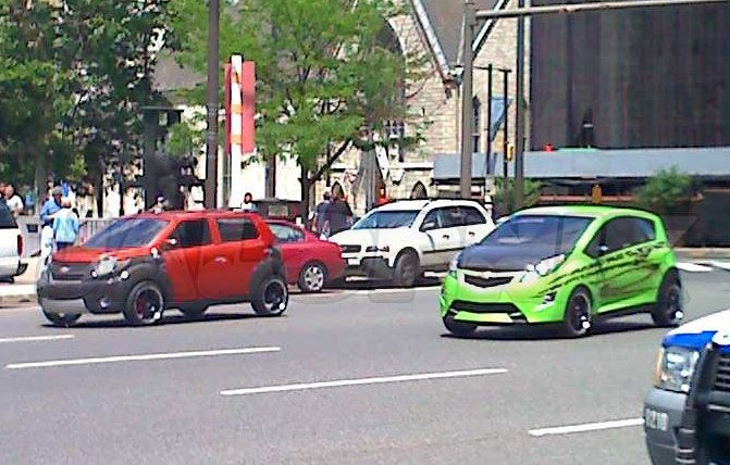 Surprise! Chevy Trax Shows Up On Set Of Transformers 2