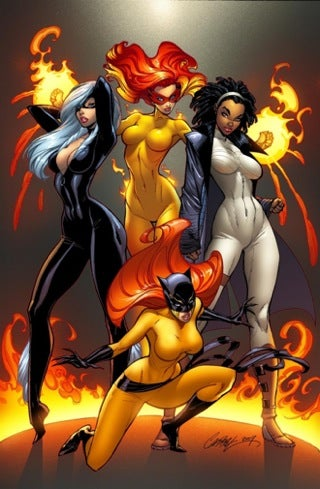 "Marvel Divas: Because Nothing Says Superhero Like ""Hot Sudsy Fun"""