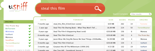 Usniff Is Yet Another BitTorrent Aggregator