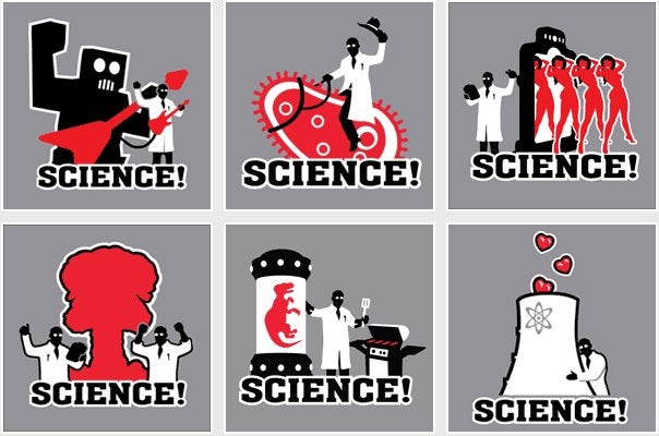Absurdist Pro-Science T-Shirts for Every Occasion