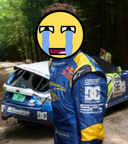 Travis Pastrana In Multi-Roll Accident At 100 Acre Wood Rally