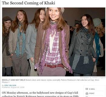 Gap Khaki Resurgence Proves 90s Are Back