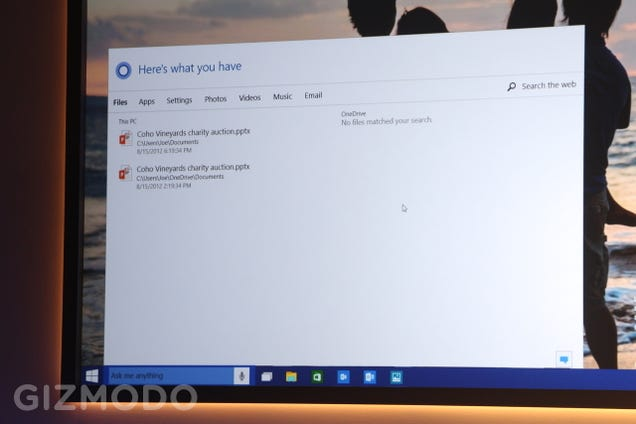Windows 10 Has Cortana Voice Commands Baked Into Every Cranny