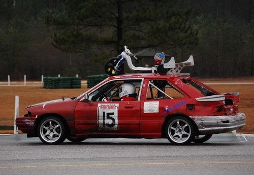 Race Leaders at the 24 Hours Of LeMons Southern Discomfort, Day One