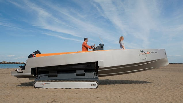 Retractable Tank Treads Make this Amphibious Boat Ready For Beach Assaults