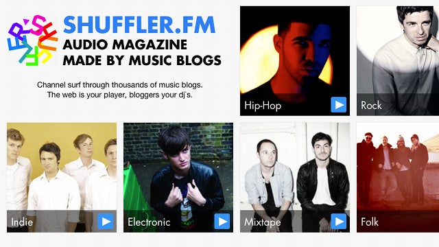 Shuffler.fm Is a Simple, Flipboard-Like Music Discovery App for the iPad