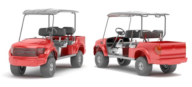Ford Raptor Monster Golf Cart Will Destroy Sand Traps, Scare That