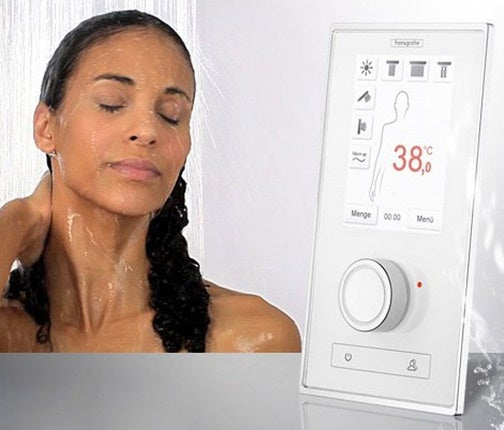Hansgrohe RainBrain Smart Shower Controller Gives You Water, Music and Lighting Control