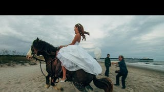 Bride Thrown From Horse During Romantic Wedding Photo Shoot