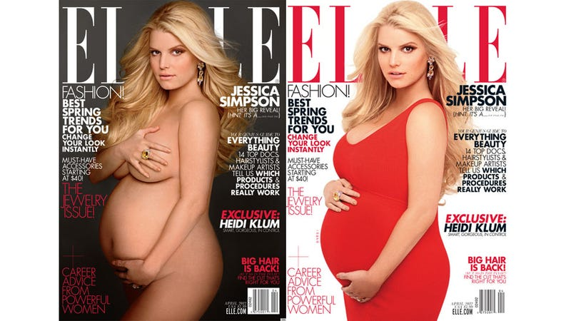 Jessica Simpson Does That Naked Pregnancy Pose Everyone Does