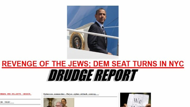Drudge Calls Turner Win 'Revenge of the Jews'