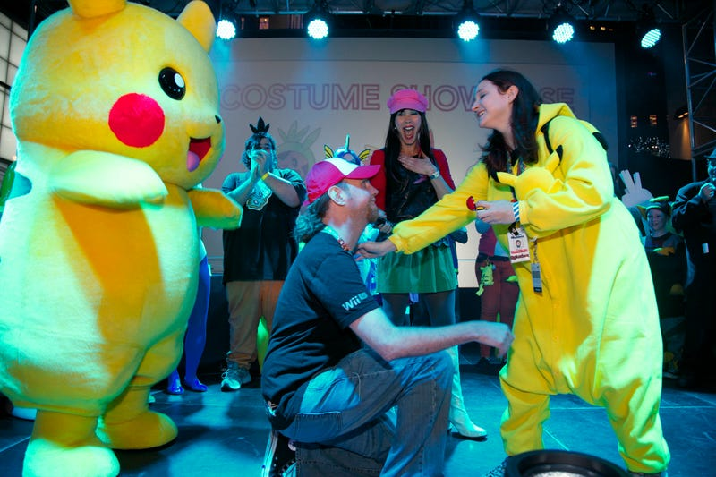 Poké-Proposal Makes Pikachu Giddy With Excitement