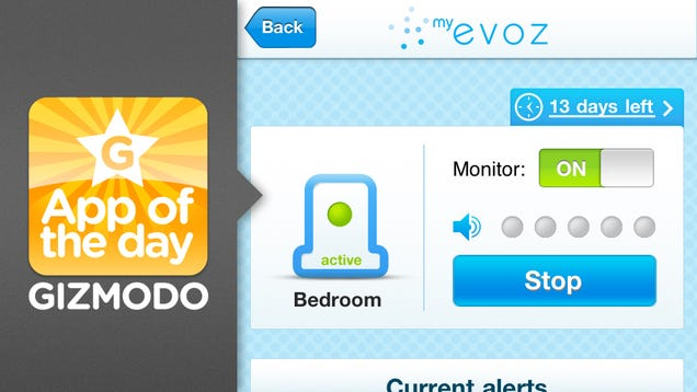 evoz baby monitor monitors baby so you don 39 t have to. Black Bedroom Furniture Sets. Home Design Ideas