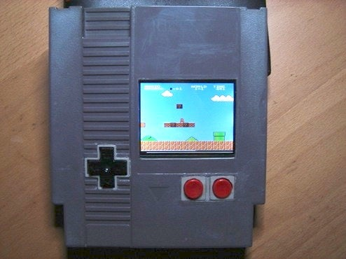 NES Cartridge Modded into NES System With Screen, Space-Time at Risk Again