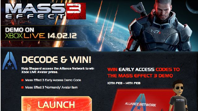 European Gamers Get a Shot at Early Mass Effect 3 Demo Starting Today