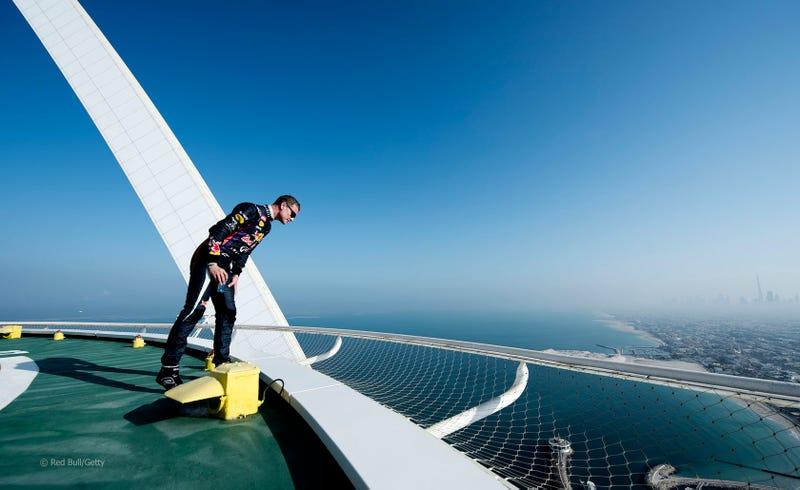 Red Bull F1 Did Donuts On Top Of The 689-Foot Burj Al Arab Helipad