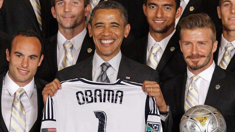 Barack Obama Bends It With Beckham