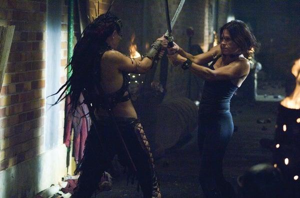 Girl-On-Girl Swordfight In The Plague Lands