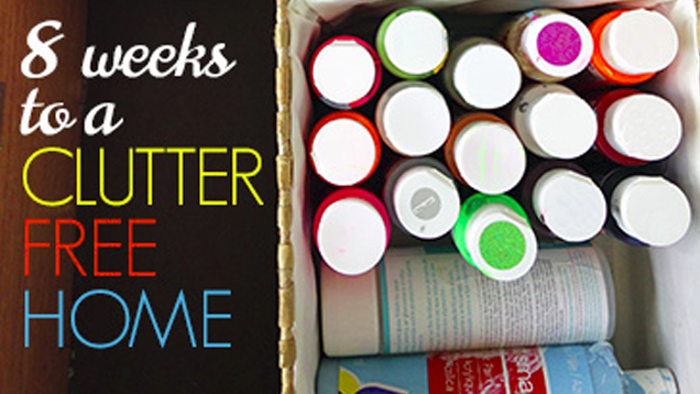 Declutter your entire home with this 8 week plan for Declutter house plan