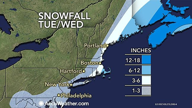 More white fluffy stuff coming down on East coast.