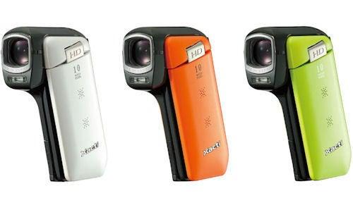Sanyo Xacti DXM-CG11 Pocket Camcorder Does 720p Video, May Have Built-in Eye-Fi