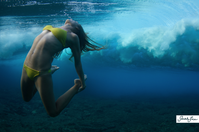 The beautiful and surreal sensuality of Sarah Lee's underwater photos