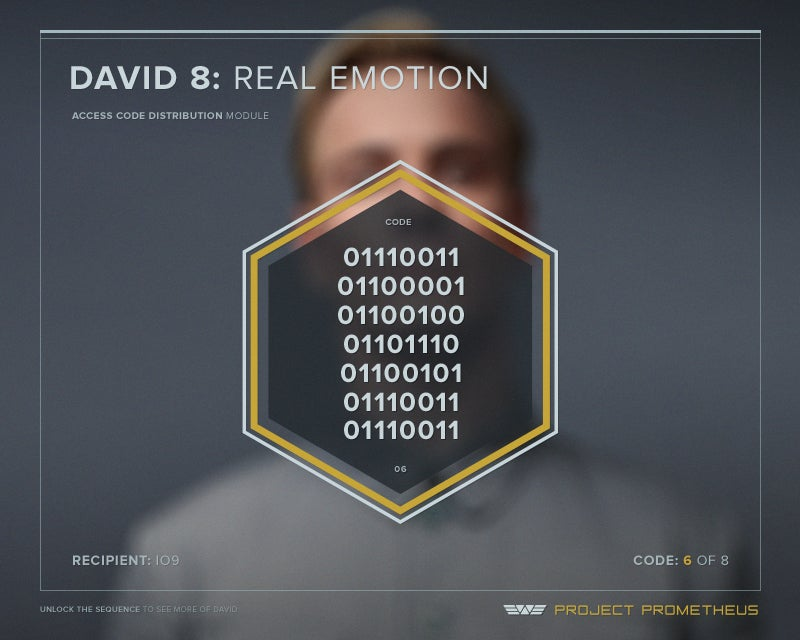 Make Michael Fassbender your plaything with these exclusive Prometheus android codes!