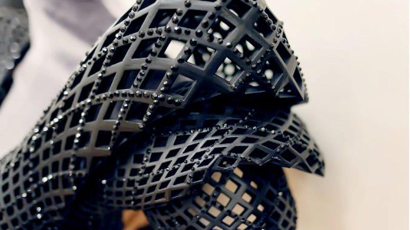 Burlesque superstar Dita Von Teese goes Metropolis in this 3D-printed dress