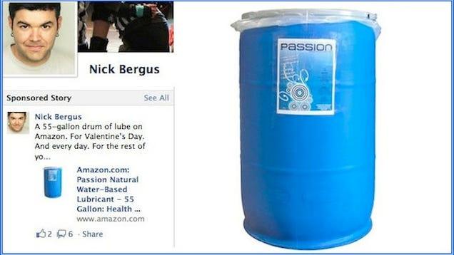 Brilliant idea 55 gallon drum of anal lube