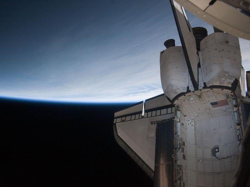 Goodbye, ISS! Goodbye, Atlantis! Goodbye, Tinman!