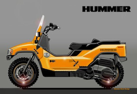 Hummer Scooter Concept Makes Trucks Look Silly