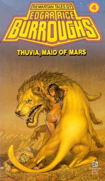 In Burroughs' second Barsoom series, the right girl winds up in the right body