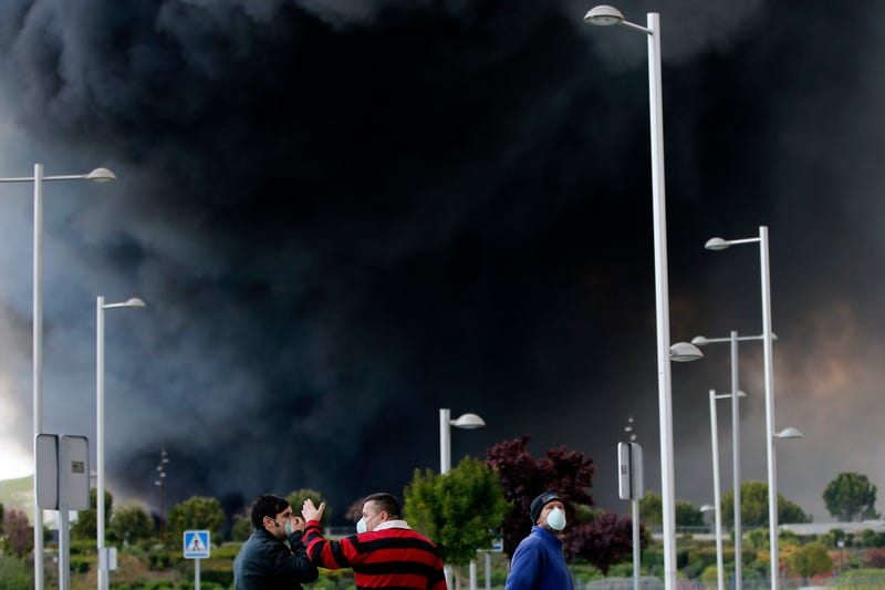 Up To 9,000 Evacuees Return Home Following Massive Fire At Tire Dump Near Madrid