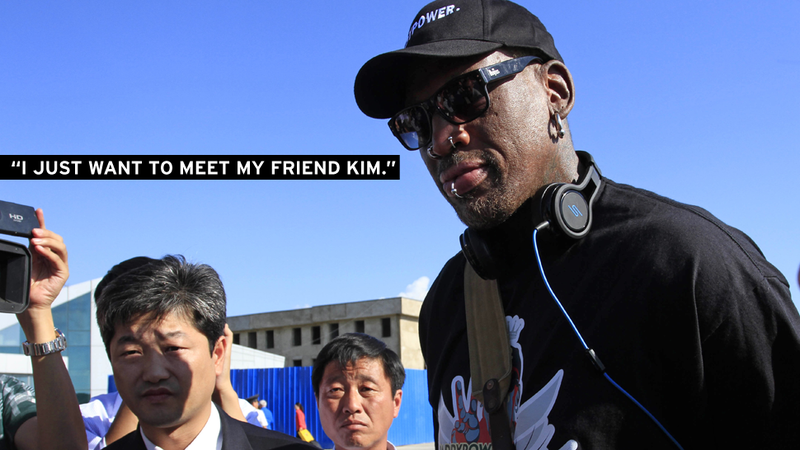 "Rodman Returns to North Korea to ""Just Have a Good Time"""