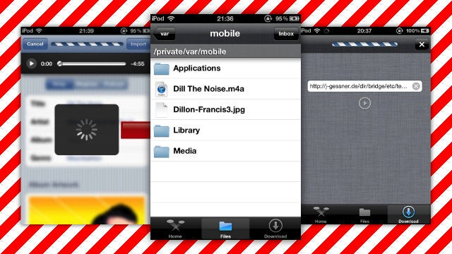 Bridge Imports Media into the iPhone's Native Apps without a PC or iTunes