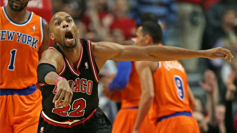 Taj Gibson Has A Strange Happy Face