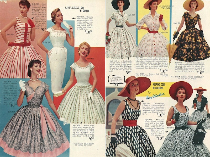 Let's Shop for Summer Dresses in the 1950s